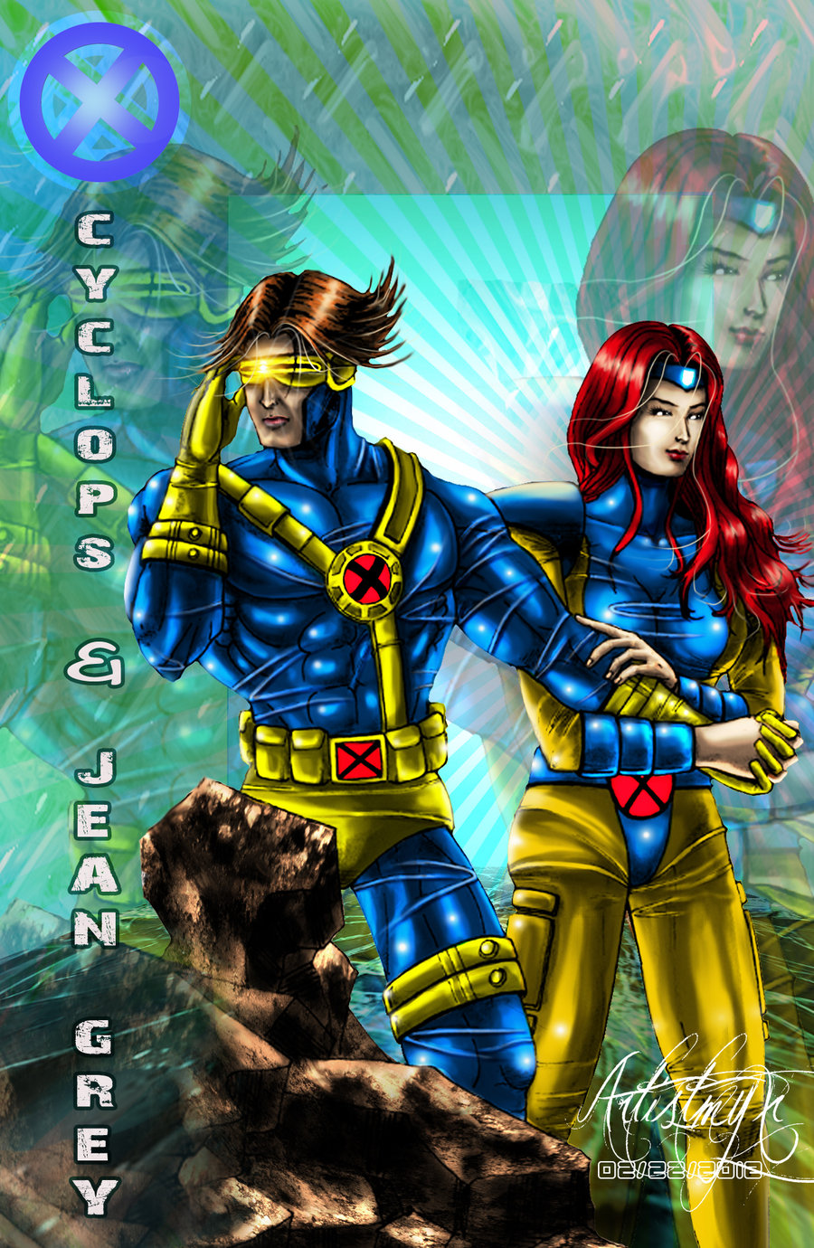 Cyclops and Jean Grey 78