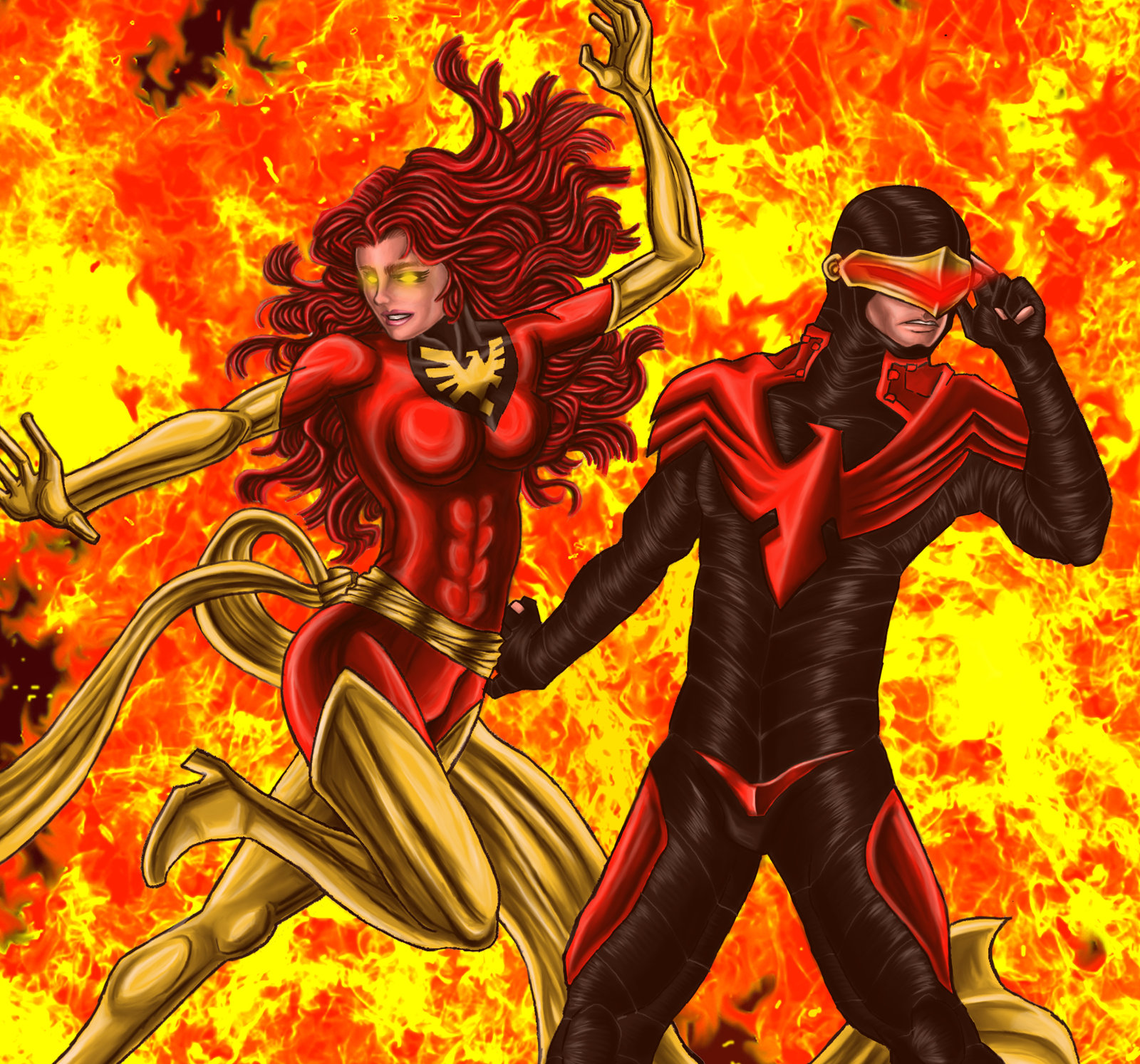 Cyclops and Jean Grey 84