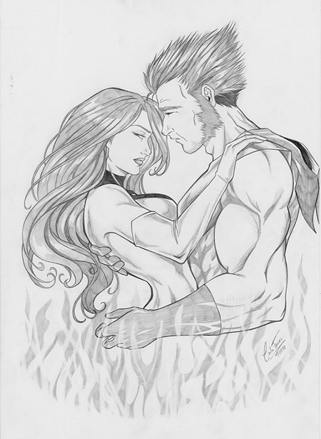 Wolverine and Jean Grey Pic 3